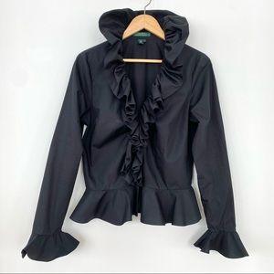 Ralph Lauren 💯 cotton top with ruffles